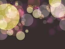 Kolorowy bąbel w ciemnym tle obraz stock