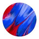 Kolorowy błękitny i czerwony atramentu muśnięcie shinny projekta element ilustracja wektor