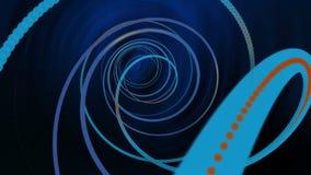 Kolorowy Błękitny podróży spirali VJ tło ilustracji