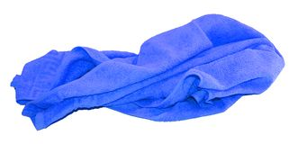 Kolorowy błękitny ręcznik odizolowywający na bielu Obrazy Stock