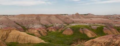Kolorowy badlands krajobraz Zdjęcie Stock