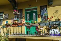 Kolorowy balkon w Kuzguncuk Obraz Royalty Free