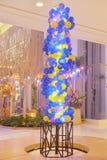 Kolorowy balon kształtująca dowodzona żarówka fotografia royalty free