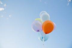 Kolorowy Balonowy latanie Obraz Stock