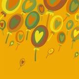 Kolorowy balonu abstrakta tło Obrazy Royalty Free