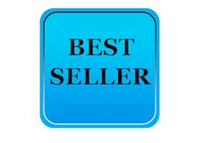 Kolorowy bestseller sieci guzika bielu tło Fotografia Stock