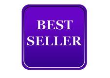 Kolorowy bestseller sieci guzika bielu tło Zdjęcia Royalty Free