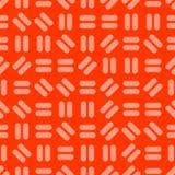 Kolorowy bezszwowy czerwony minimalistic tło - jaskrawy prosty geometryczny wzór Wektorowa powtarzalna tekstura ilustracja wektor