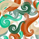 Kolorowy bezszwowy falowy wzór Zdjęcie Royalty Free
