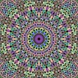 Kolorowy bezszwowy kwiat mozaiki mandala wzoru tło - abstrakcjonistyczna wektorowa ornament tapety ilustracja ilustracji