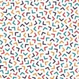 Kolorowy bezszwowy Memphis wzór z mozaika kątami Moda projekt 80-90s ilustracji