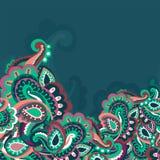 Kolorowy bezszwowy Paisley tło ilustracja wektor