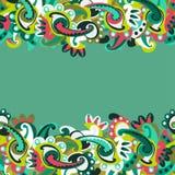 Kolorowy bezszwowy Paisley tło Obraz Stock