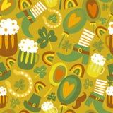 Kolorowy bezszwowy st.Patrick's dnia wzór ilustracji