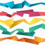 Kolorowy bezszwowy wektorowy abstrakcjonistyczny poligonalny origami tło Zdjęcie Royalty Free