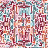 Kolorowy bezszwowy wzór w etnicznym stylu Ilustracji