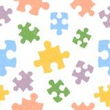 Kolorowy bezszwowy wzór z doodle łamigłówki kawałkami Zdjęcie Stock