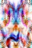 Kolorowy bezszwowy wzór z dzikimi lampartami Fotografia Royalty Free