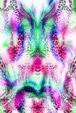 Kolorowy bezszwowy wzór z dzikimi lampartami Obraz Royalty Free