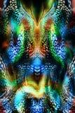 Kolorowy bezszwowy wzór z dzikimi lampartami Obraz Stock