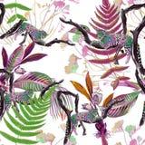 Kolorowy bezszwowy wzór z dzikimi lampartami Zdjęcie Royalty Free