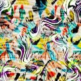 Kolorowy bezszwowy wzór z dzikimi lampartami Obrazy Stock