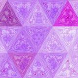 Kolorowy Biżuteryjny elegancj lilas trójboka wzór Zdjęcia Royalty Free