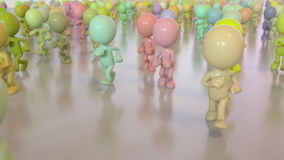 Kolorowy bieg tłum zbiory