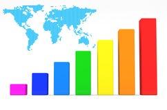 Kolorowy Biznesowy wykres Obrazy Royalty Free