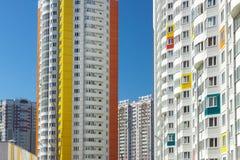 Kolorowy blok mieszkaniowy Fotografia Royalty Free