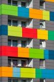 Kolorowy blokowy dom obraz stock