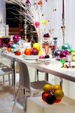 kolorowy Boże Narodzenie stół Obrazy Stock