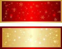 Kolorowy boże narodzenie sztandar z płatkami śniegu Ilustracji