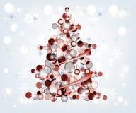 kolorowy Bożego Narodzenia drzewo Obraz Royalty Free
