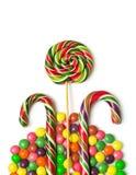 Kolorowy Bożenarodzeniowy cukierek Zdjęcia Royalty Free