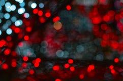 Kolorowy bokeh światła tło Zdjęcia Stock