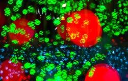 Kolorowy Bokeh światła tło, bożonarodzeniowe światła dekoracja Fotografia Stock