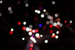 Kolorowy bokeh światło świętuje przy nocą, defocus lekki abstrakcjonistyczny tło Zdjęcie Stock