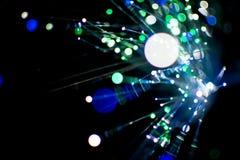 Kolorowy bokeh światło świętuje przy nocą, defocus lekki abstrakcjonistyczny tło Obraz Royalty Free