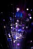 Kolorowy bokeh światło świętuje przy nocą, defocus lekki abstrakcjonistyczny tło Obrazy Stock