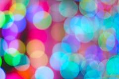 Kolorowy Bokeh światło Obraz Royalty Free