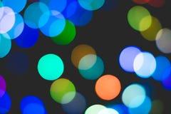 Kolorowy Bokeh światło Obrazy Royalty Free