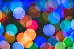 Kolorowy Bokeh światło Zdjęcia Royalty Free