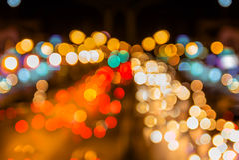 Kolorowy Bokeh światło na drodze Fotografia Royalty Free