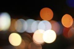 Kolorowy Bokeh w zbliżeniu Obraz Stock