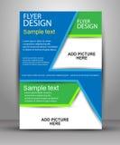 kolorowy broszurka projekt Ulotka szablon dla biznesu Obraz Stock