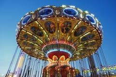Kolorowy Carousel w Dżersejowym brzeg obraz royalty free