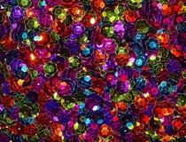 Kolorowy cekinu tło Fotografia Stock