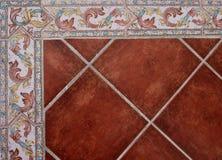 Kolorowy ceramiczny kafelkowy kąt ścienny koniec obrazy royalty free