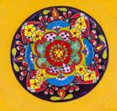 Kolorowy Ceramiczny meksykanina talerz Guanajuato Meksyk fotografia royalty free
